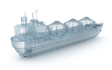 Oil Tanker Ship Wire Model Iso...