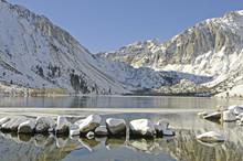 Convict Lake In Winter Near Mammoth Lakes, CA