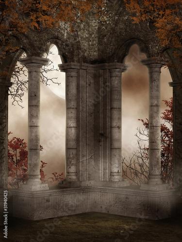 Fototapeta Ruiny zamku z bluszczem obraz