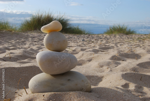 Stone stacking Canvas Print