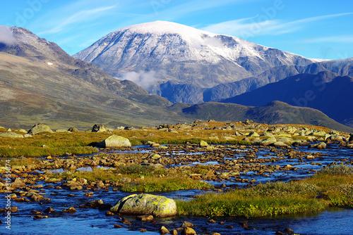 Fototapeta Picturesque Norway mountain landscape. Jotunheimen National Park
