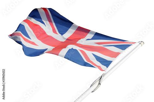 Bandiera inglese isolata Poster