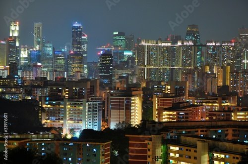 Photo  Singapore Cityscape from Mt faber