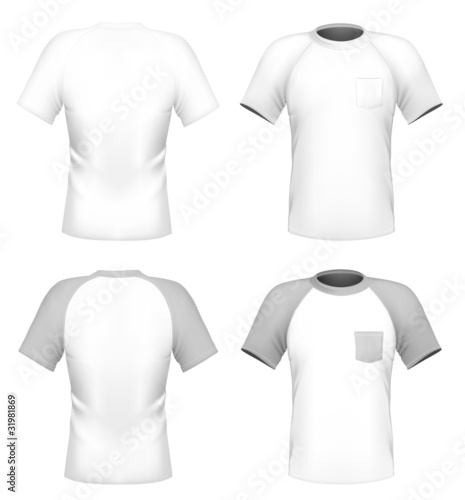 Mens T Shirt Design Template With Pocket Front And Back Buy