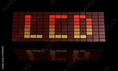 Foto op Aluminium Pixel LCD