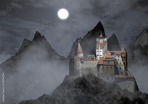 Foto  Castello dracula e montagne