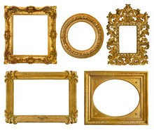 Collection Old Golden Frames With Beautiful Carving