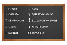 Chalkboard With Punctuation Marks