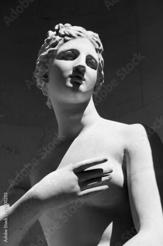 Fotografie, Obraz  Detail Statue einer Göttin