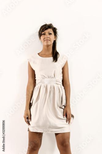 Fotografie, Obraz donna sicura su fondo bianco