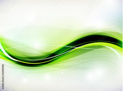 abstrakcyjna-zielono-czarna-fala-na-bialym-tle