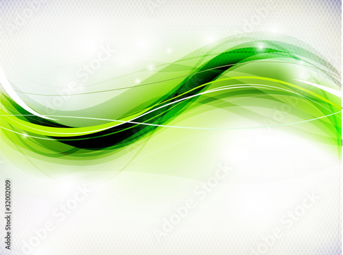 Foto op Canvas Abstract wave Abstract Green Background