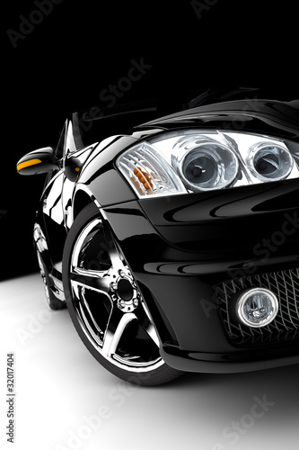 Naklejka premium Czarny samochód