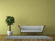 canvas print picture - Sofa Rendering mit Pflanze