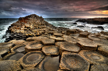 Sunset At Giant's Causeway (HDR)