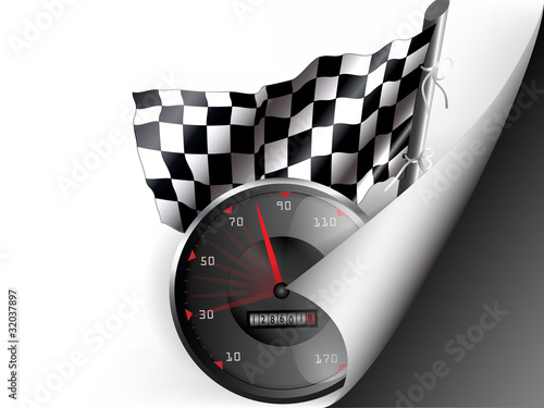 Paper with flex corner with racing theme - Buy this stock vector and