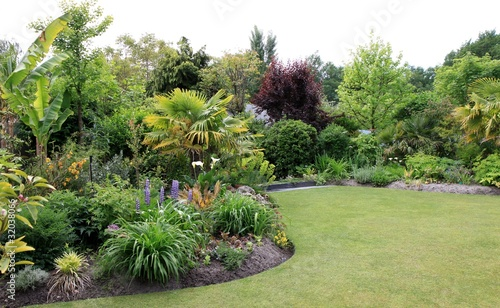 Fotografia, Obraz joli jardin paysagé