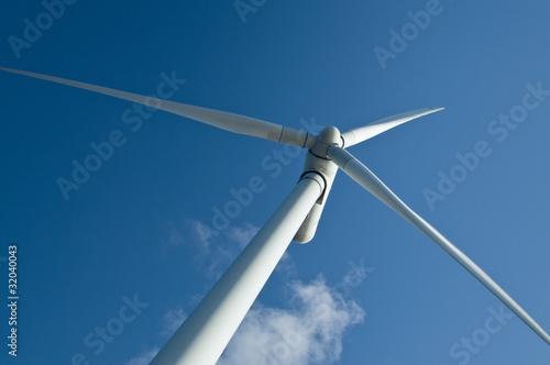 Photo wind turbine closeup