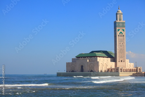 Photo  Die Hassan II Moschee in Casablanca