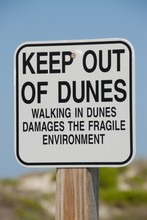 Keep Out Of Sand Dunes Sign Fl...