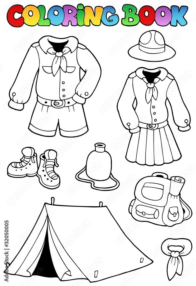 Fotografía Libro para colorear con la ropa del explorador ...