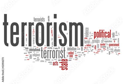 Fotografia  Word Cloud Terrorism