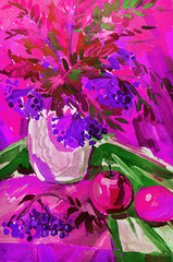 Obraz na Plexi Kwiaty STILL-LIFE FLOWERS