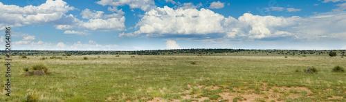 Montage in der Fensternische Gras Grassy prairie of Texas - panorama