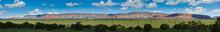 Red Mountains Of Arizona - Panorama