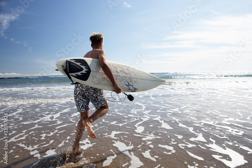 Boy surfing Canvas Print