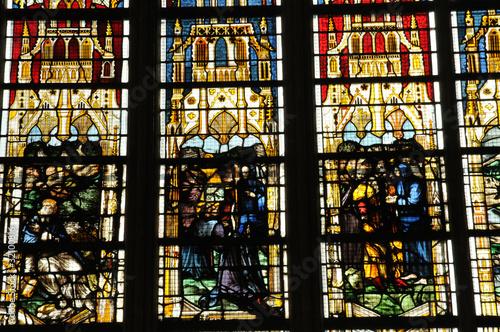 Photo sur Toile Art Studio abbatiale Saint-Ouen à Rouen en Normandie