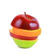 Fruit mix isolated on white background.