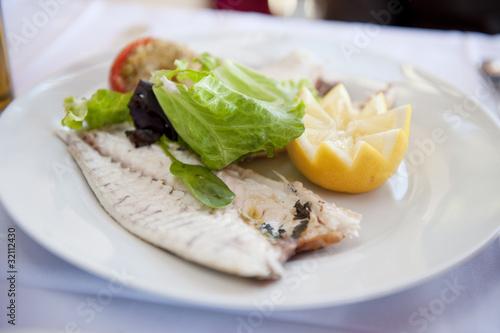 Fotografie, Obraz  Filet de dorade grillé