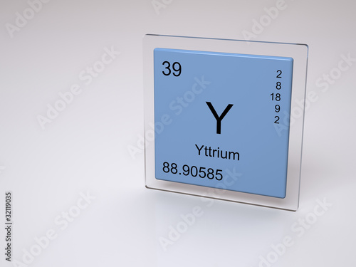 Yttrium Symbol Y Chemical Element Of The Periodic Table Buy