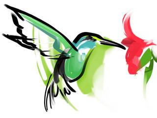 Naklejkaハチドリ