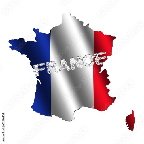 France Map Flag.France Map Flag With Grunge Text Illustration Buy This Stock