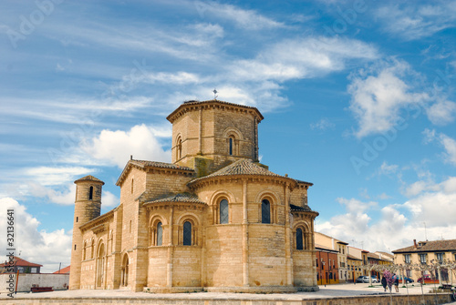 Back view of romanesque church of St. Martin in Fromista
