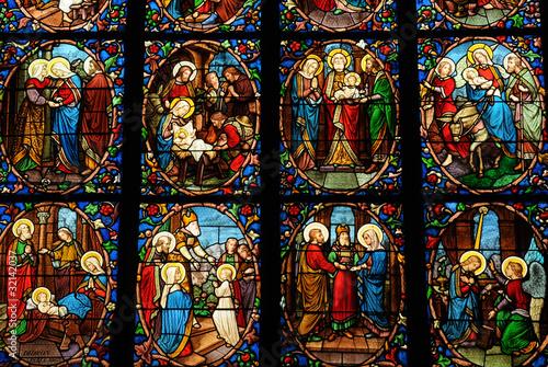 Poster Stained France, cathédrale Saint Maclou de Pontoise