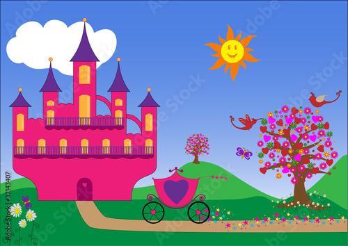Poster Castle Décor de princesse