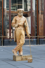 Living Statue Of A Musician
