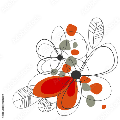 Tuinposter Abstract bloemen Cute floral background
