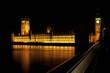 Nocna fotografia Westminster, Big Ben i Tamiza.