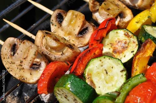 Photo Vegetarisch Grillen: Gemüsespieße