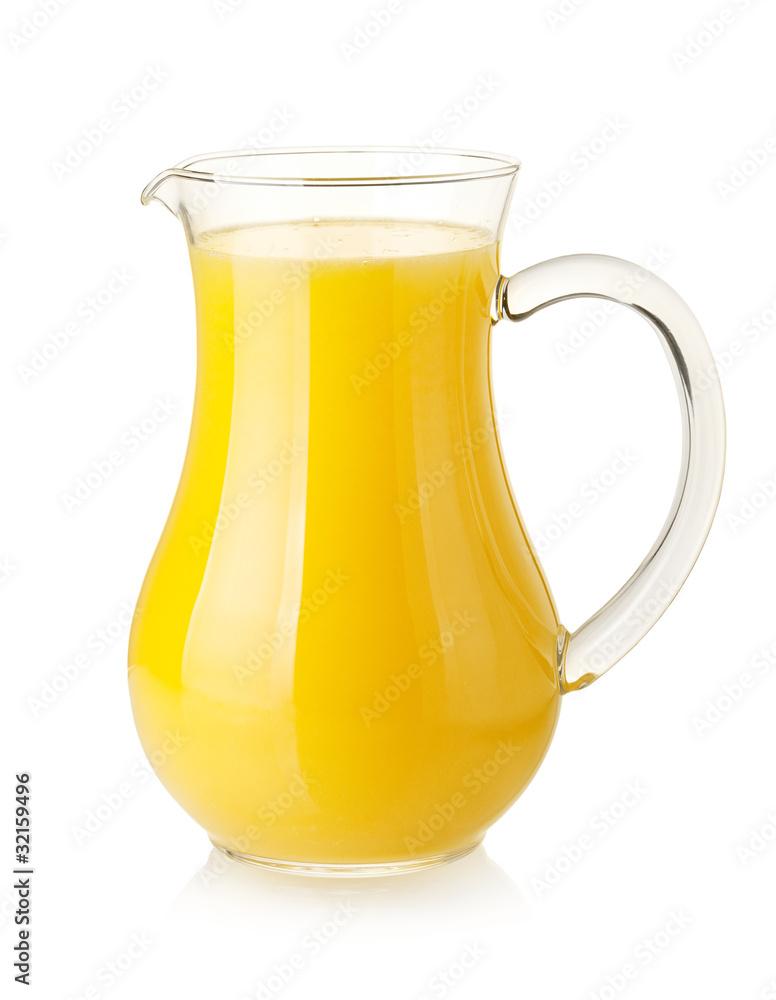 Fototapety, obrazy: Orange juice in pitcher