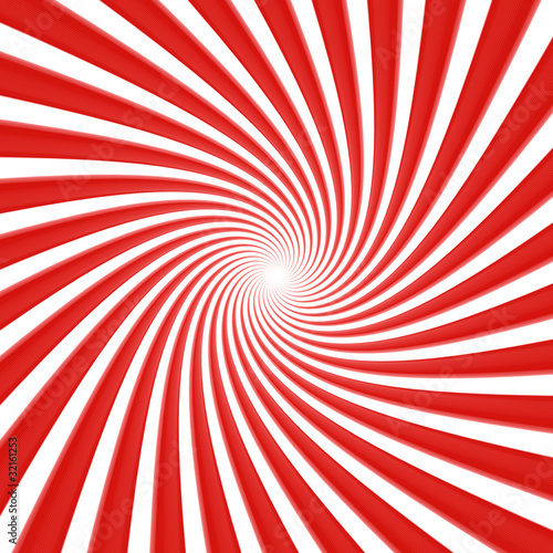 Poster Psychedelique White and red vortex