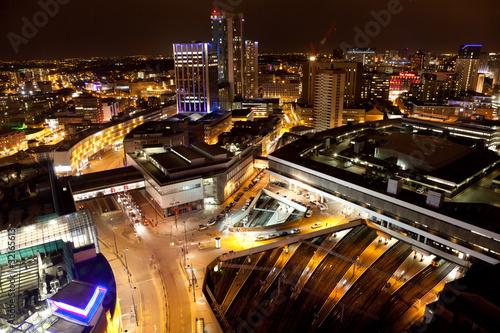 Birmingham City Centre at night Wallpaper Mural