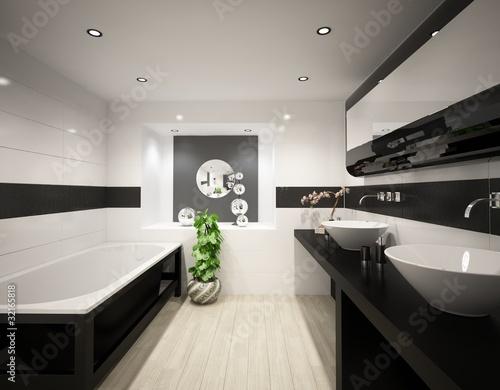 Cuarto de baño blanco y negro – kaufen Sie diese Illustration und ...