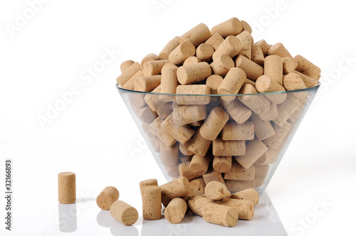 Fotografie, Obraz  A lot of new corks in a bowl