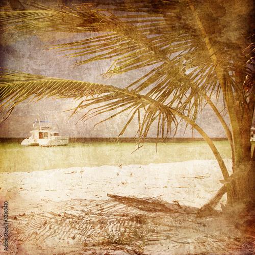 Obrazy na płótnie Canvas Ship under Palm