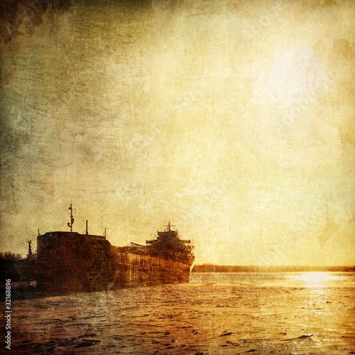 Obrazy na płótnie Canvas Winter Barge